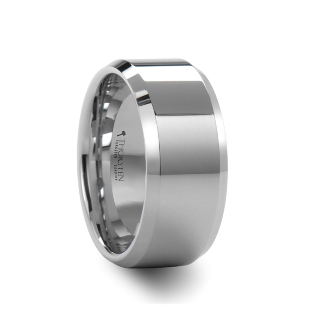 Thorsten Perseus Brushed Rounded Domed Tungsten Ring 6mm Wide Wedding Band from Roy Rose Jewelry