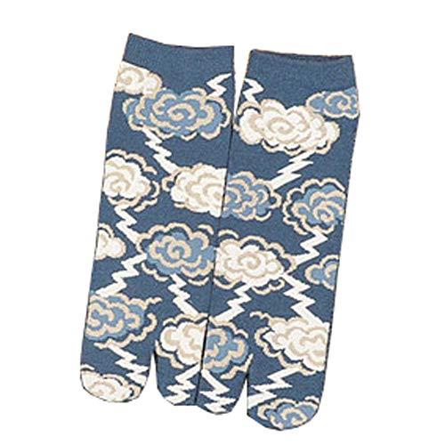 Fancy Pumpkin Kimono estilo japonés sandalia Split Toe Tabi Ninja Geta Calcetines Geisha Calcetines para hombres, E-08