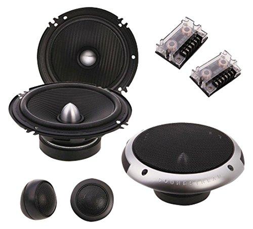 Soundstream PF.6 Bocinas Componente con Set de Medios, 2-Vías, 120 W RMS, 350 W, 6.5″