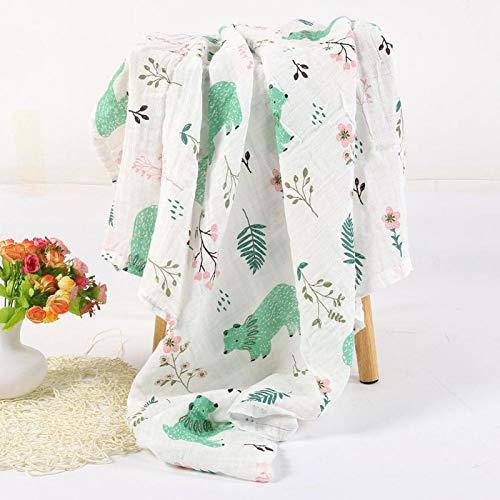 Reutilizable y duradero, toalla de baño para bebé, juego de toallas para bebé fácil de poner en la mochila,(Green polar bear)