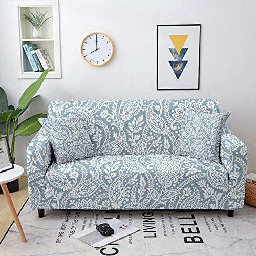Funda De Sofá Elastica,Universal Stretch Sofa Cover, Nordic Light Color Vine Printed Elastic Couch Covers Polyester Spandex Equipado Sofá Slipcover Furniture Protector Single To Four-Seater,2,Seater