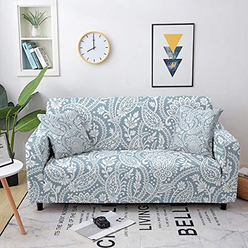 Fundas de sofá elásticas, universales, de color claro, nórdico, fundas elásticas para sofá de poliéster y licra, para sofá de cama individual a cuatro plazas, 1, asiento 90, 140 cm