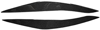 SXHNNYJ Carbon Fiber eyelid cover trim Headlight Eyebrow Eyelids Compatible,For BMW F10 5 Series 2010-2013 Car Styling