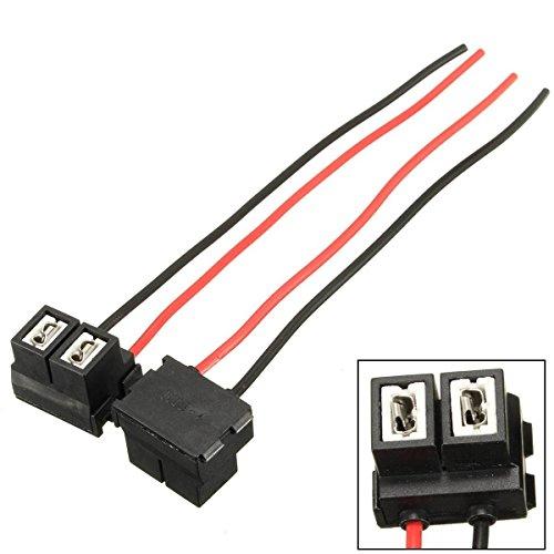 AUDEW 2x H7 2 Pins 12/24V Scheinwerfer Halter Lampenfassung Steckverbinder Adapter Stecker Sockel Ersatz