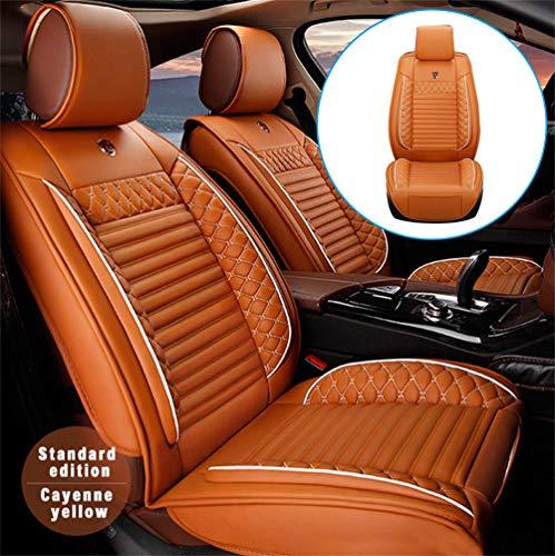 Handao-US Fundas de asiento de coche para Seat León ST Cupra 2 asientos, protección impermeable para todo tipo de clima, fácil instalación (compatible con airbag), color naranja