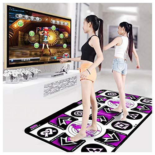 La última alfombra de baile infantil para adultos con 150 juegos y música para bailarines antideslizantes Juegos multifunción de alta sensibilidad y niveles 2 personas Juegos de PC TV Sense (Morado)