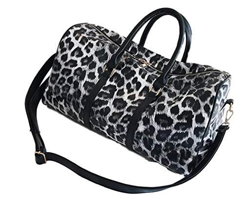 Ro Rox Leorah Borsone Borsa Weekend Palestra Leopard Donna Punk Scuola - Bianco