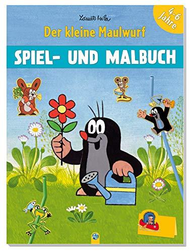 Trötsch Der kleine Maulwurf Spiel und Malbuch: Malbuch Beschäftigungsbuch Ausmalbuch