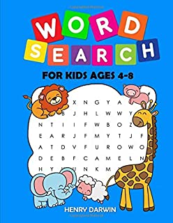 Word Search For Kids Ages 4-8: Earlybird Kindergarten Kids Activities Word Search, Animal, Fruits, Vegetable, Body Vocabulary