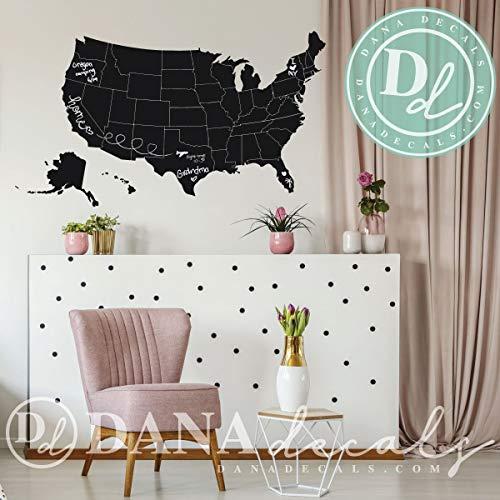 Krijtbord muur Decal van de VS kaart muur Decal Aangepaste Krijtbord muur Cling voor Speelkamers Kids Kamers Klas Decor Familiekamer