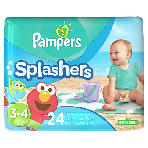 Pampers Splashers Disposable Swim Pants Size 3-4, 24 Count