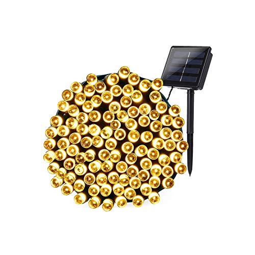 Solar String Lights, 22M 200LED Solar Light Plug Light String...