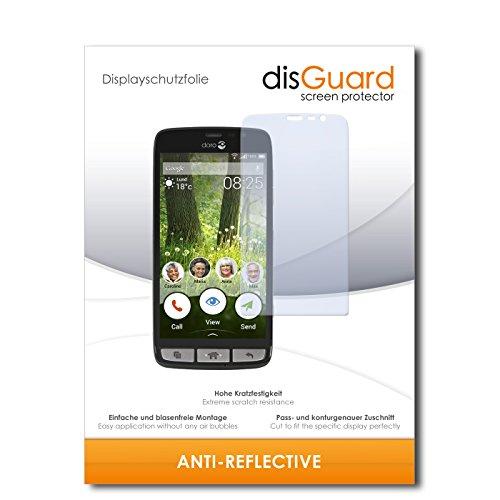 disGuard® Bildschirmschutzfolie [Anti-Reflex] kompatibel mit Doro Liberto 825 [2 Stück] Entspiegelnd, Matt, Antireflektierend, Extrem Kratzfest, Anti-Fingerabdruck - Panzerglas Folie, Schutzfolie
