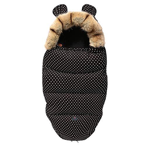 Migaven Saco Silla Paseo Universal, Saco de Dormir Bebe para Cochecito Protección Antideslizante, con Capucha Desmontable para Niños Pequeños Bebés Cochecitos Accesorios Nergo
