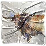 Sheep Longhorn Art Pañuelo de poliéster con bolsillo cuadrado mulipurpose de seda, impresión delicada