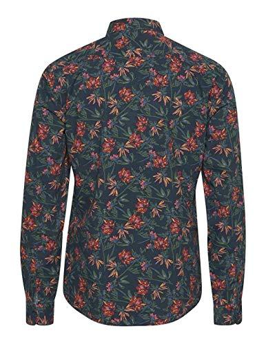 BLEND HE Hemd Shirt 20709976 Herren, 339615_1962565, Blau, 339615_1962565 L