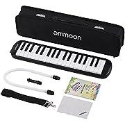 ammoon Mélodica 37 Touches Pianica Piano Style Harmonica Clavier avec Embouchure Chiffon de Nettoyage Etui de Transport pour les Débutants Enfants Cadeau Musical (37 Touches)