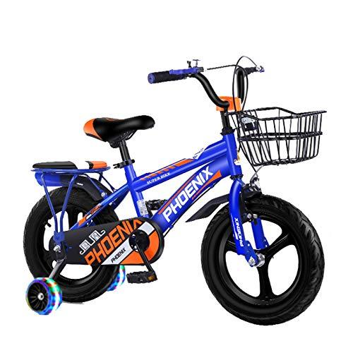 Axdwfd Infantiles Bicicletas 12-18 Pulgadas, Niños Al Aire Libre De La Bicicleta, De 2-13 Años De Edad Niños Y Niñas, Azul (Size : 18in)