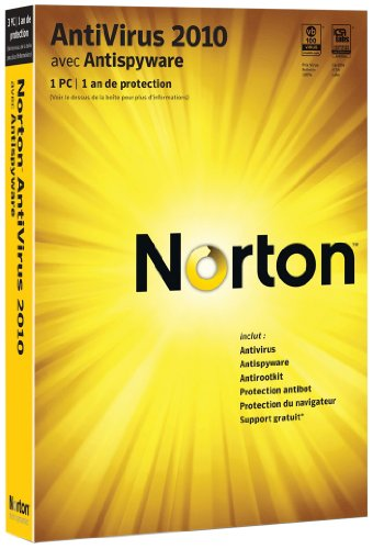 Norton antivirus 2010 (1 poste, 1 an)