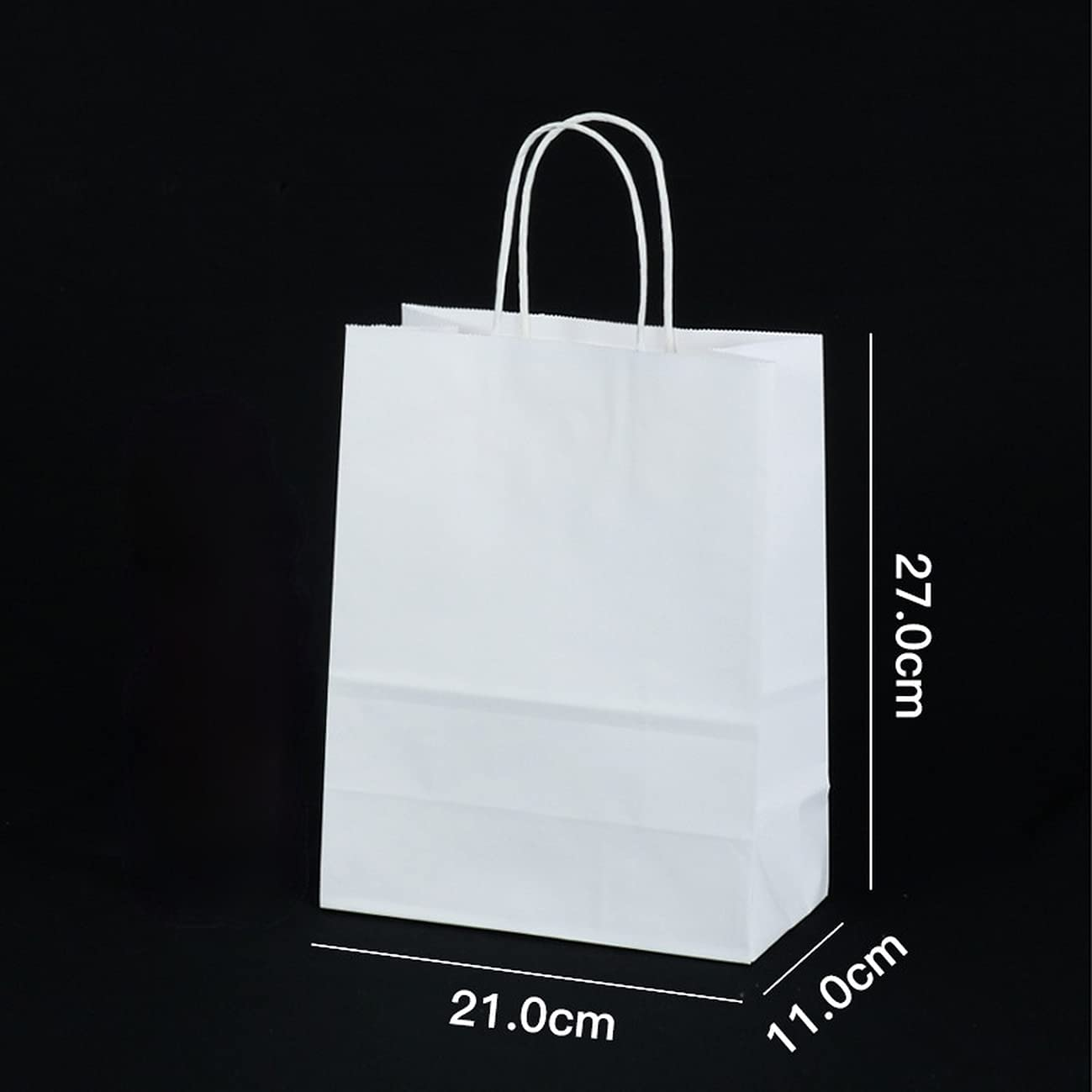 AHTOSKA 50PC Recycled Biodegradable Kraft Paper Tote Bag Food De