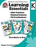 Learning Essentials Kindergarten: Math, Reading, Writing, Three Books in One: Written by teachers