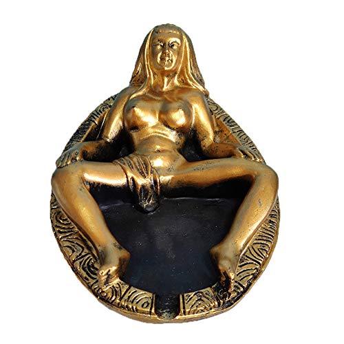 Wanjun Lustiger Sexy Erotischer Aschenbecher, Lustiges Geschenk Für Männer, Hergestellt Aus Natürlichem Harz,8.7x12.5x5cm