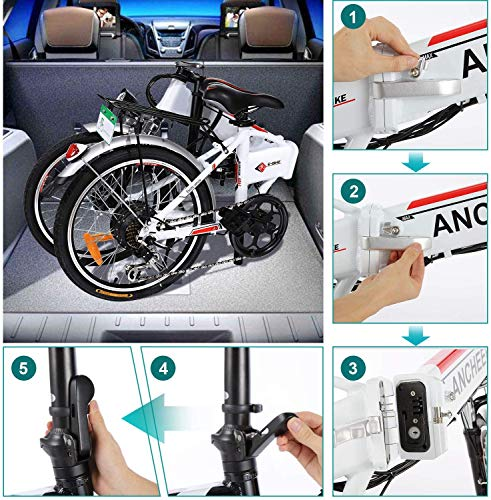 ANCHEER E-Bike Klapp / Falt Elektrofahrrad 20 Zoll Bild 5*