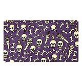 ZDL Grimace Skull - Alfombrilla de baño (39,8 x 70,9 cm), PVC ecológico