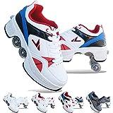 Phoneix Patins A roulettes,Rollers en Ligne pour Enfants,Rollers Quad,Chaussures Sport Fille,Kick Roller Shoe,Blue-39
