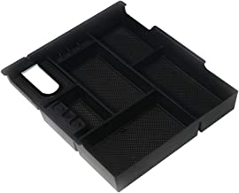 Center Console Organizer Tray - Fits 2014, 2015, 2016, 2017, 2018, 2019 Toyota Tundra SR, SR5, Limited, Platinum, 1794 Edition, TRD Pro - Full Tray Storage Box Accessory - Anti-Slip ABS Black Tray