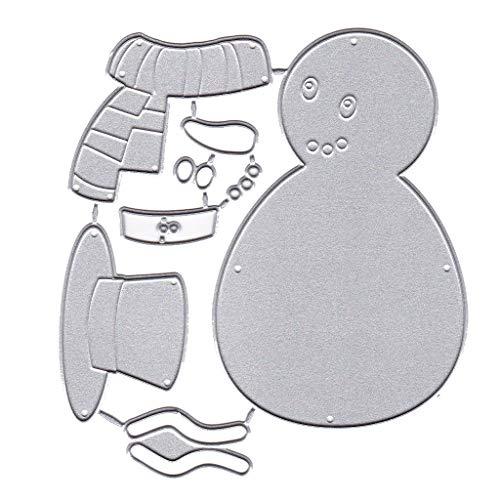 siwetg Weihnachten Schneemann Metall Stanzformen Schablone DIY Scrapbooking Album Briefmarkenpapier