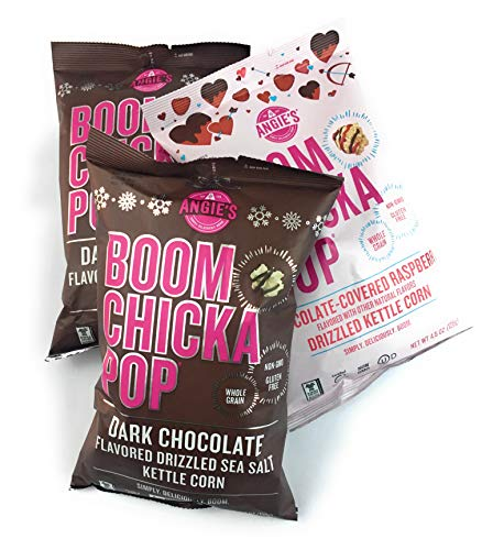 Review Of Angie's BOOMCHICKAPOP Kettle Corn 3 Bag Bundle: Dark Chocolate & Chocolate-Covered Raspber...