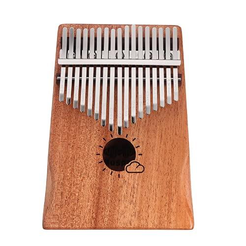 Pulgar Piano 17 Teclas Kalimba Caoba Pulgar Piano África Mbira Calimba dedo teclado instrumento con sintonizador martillo para niños Audlt