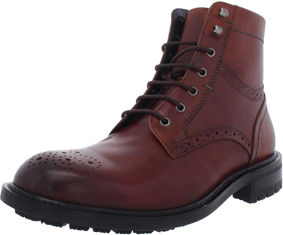 Ted Baker Mens Brwtton Leather Lace Up Oxford Boots Brown 7 Medium (D)