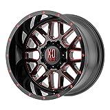 xd series wheels 20 - XD SERIES GRENADE SATIN BLACK MILLED W/RED TINTED CLEAR COAT GRENADE 20x10 5x127.00 SATIN BLACK MILLED W/RED TINTED CLEAR COAT (-24 mm)