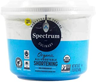 Spectrum Culinary Organic All-Vegetable Shortening, 24 oz. (Pack of 4)
