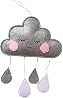 Cloud Raindrop Hanging Pendants Nursery Bedroom Wall Window Tent Cribs Beds Ceiling Garland Decoration for Baby Kids Child...