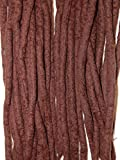 Dreadlocks uniques faits main–choisissez votre propre mix de couleurs–Dreads en laine mérinos à double extrémité, Blanc blond, 38