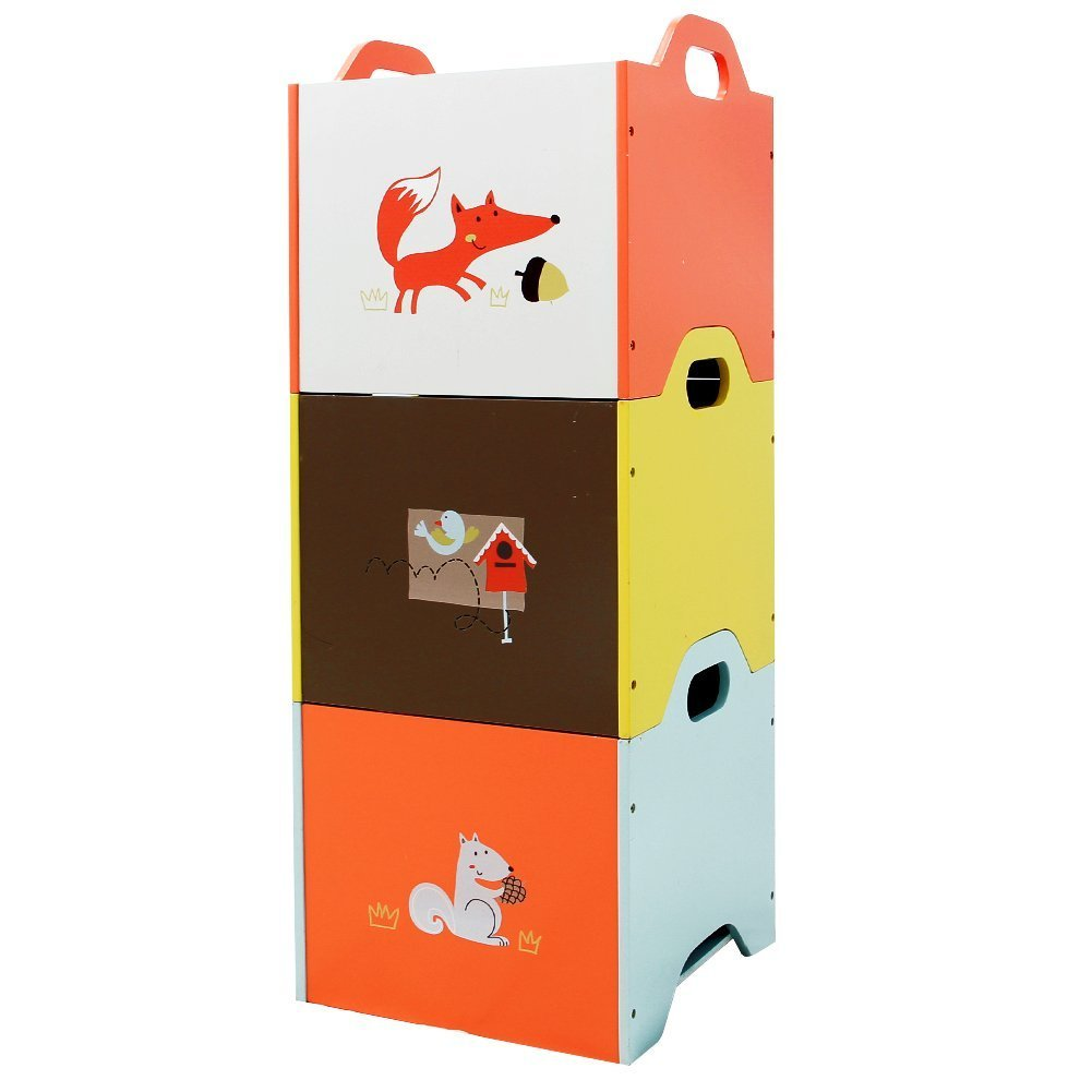 Industry No. 1 Manufacturer direct delivery labebe Baby Toy Chest 3-Color Kid To Year Wooden 1-3 for