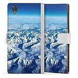 DeinDesign Étui Compatible avec Sony Xperia L1 Étui Folio Étui magnétique Nuage Neige Montagne