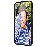 Phone Case for iPhone XR, Tempered Glass Back Cover and Soft Silicone Rubber Bumper Frame for Scratch-Resistant and Shock Absorption M-277 Harry