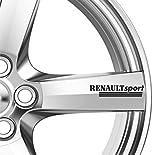 6 x Renault Sport Alufelgen Aufkleber, selbstklebend, Megane Premium Qualität