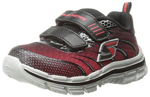 Skechers Kids Skechers Kids Nitrate Top Speed Double Strap Athletic Sneaker (Toddler), Red/Black, 5 M US Toddler