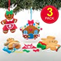 Baker Ross AT165 Gingerbread Decoration Sewing Kits, Christmas Arts and Crafts (Pack of 3), Assorted