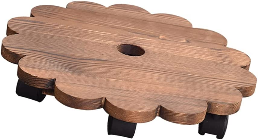 generic Wood Mail order cheap Plant Caddy Fixed price for sale with Wheels Round Rolling Do