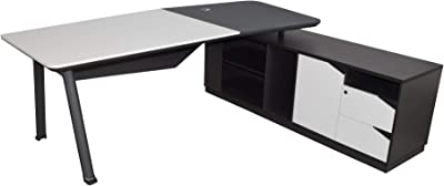 Mueble TV Modelo Luke H1 (100x32cm) Color Blanco Negro con Patas ...