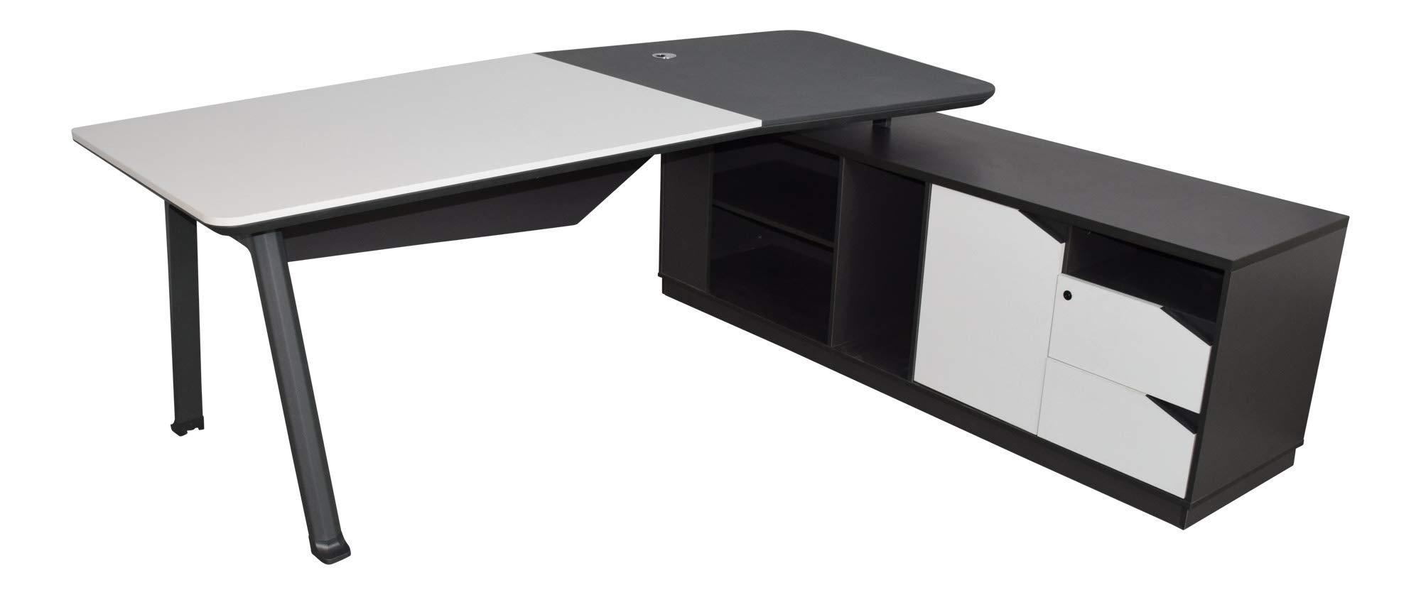 Ikea MICKE Escritorio en Negro y marrón; (142 x 50 cm): Amazon.es ...