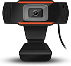A870 HD Computer Network Video Camera Rotatable USB Camera Video Recording Web Camera with Microphone for PC Computer - Orange