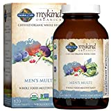 Garden of Life mykind Organics Whole Food Multivitamin for Men, 120 Tablets, Vegan Mens Vitamins and Minerals for Mens Health and Well-being, Certified Organic Vegan Mens Multi
