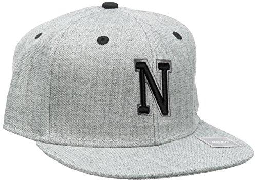 MSTRDS Unisex Letter Snapback N Baseball Cap, N Heather Grey, Large